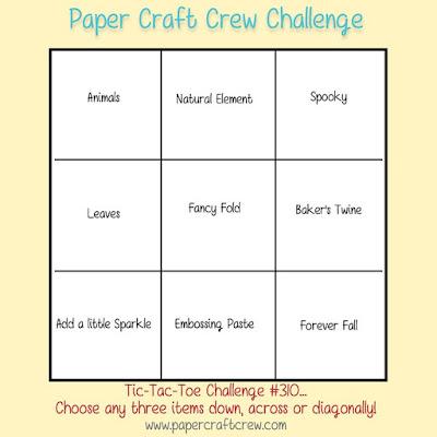 Paper Craft Crew Tic Tac Toe Challenge from Mitosu Crafts UK