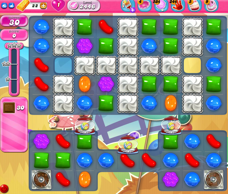 Candy Crush Saga level 2446