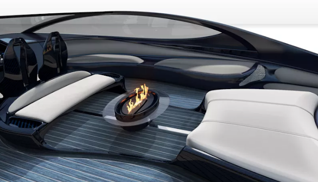 The Bugatti's $2.2 Million Super Yacht (Showing The Fire Pit)