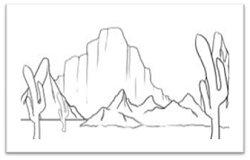 Desert Drawing step by step