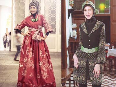 Batik Hijab Vintage Style