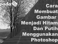 Cara Membuat Foto Menjadi Hitam Putih Dengan Photoshop
