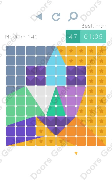 Cheats, Walkthrough for Blocks and Shapes Medium Level 140