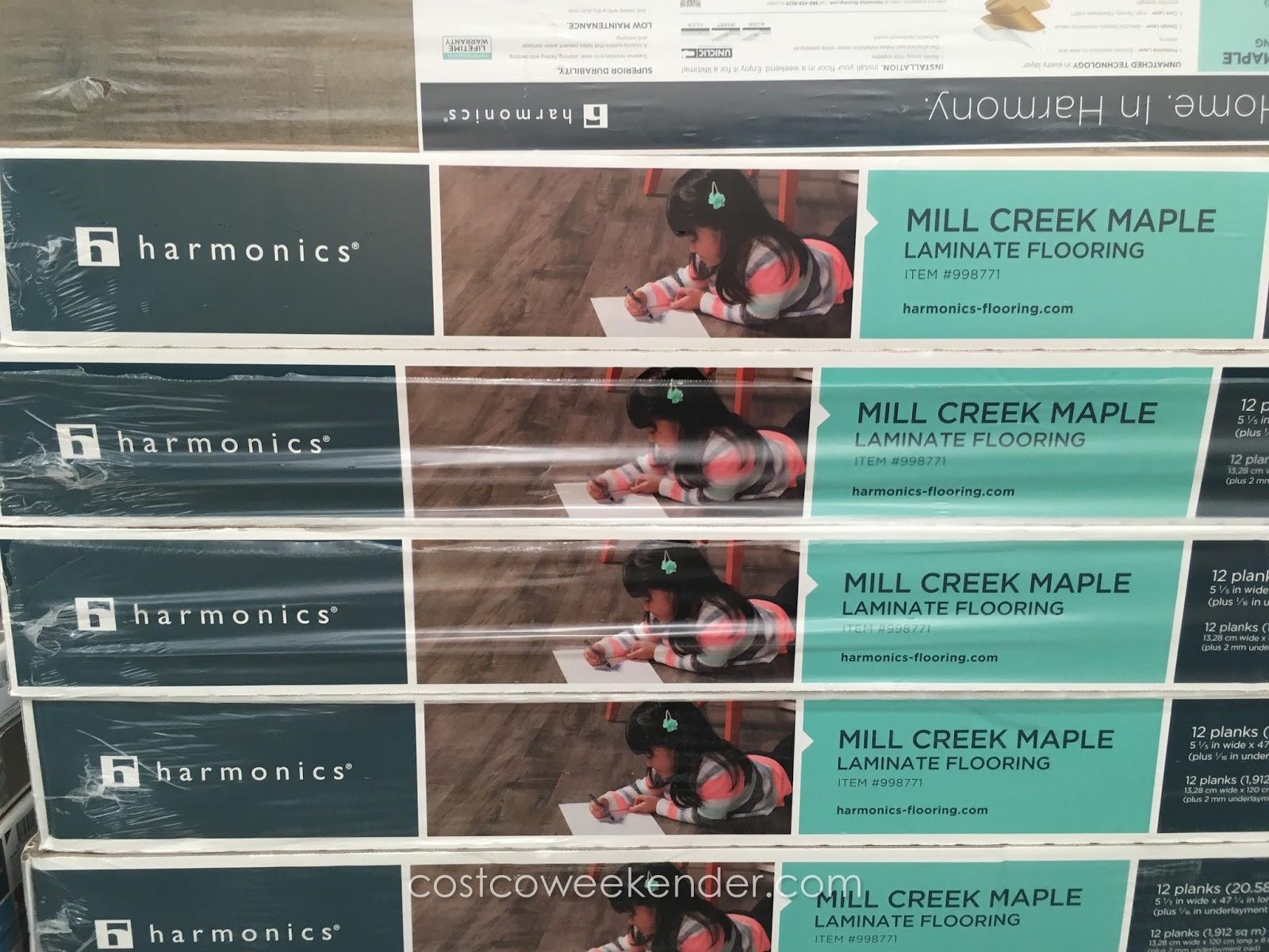 Harmonics Unilin Mill Creek Maple Laminate Flooring