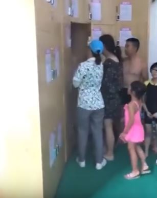 These Parents Put Their Baby Inside The Swimming Pool's Locker For Hours So They Can Enjoy Swimming!