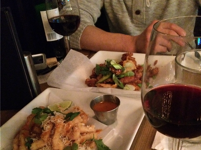 date night wine and appetizers