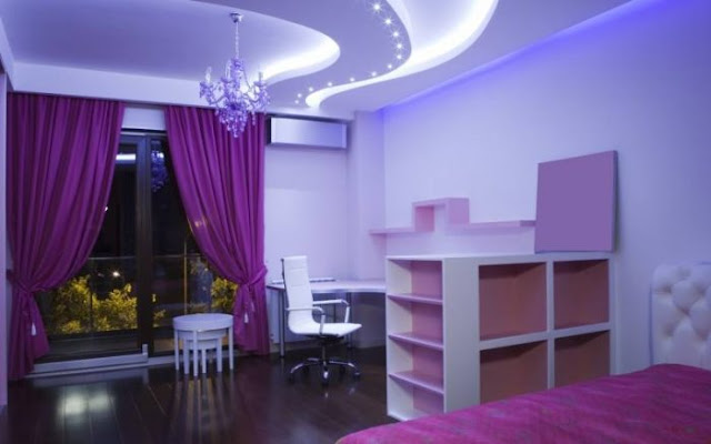 gorgeous pop designs for wall for bedroom with plaster of Paris POP ceiling idea