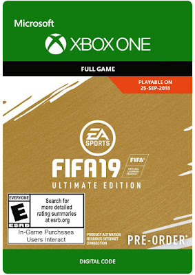 Fifa 19 Game Cover Xbox One Ultimate Edition