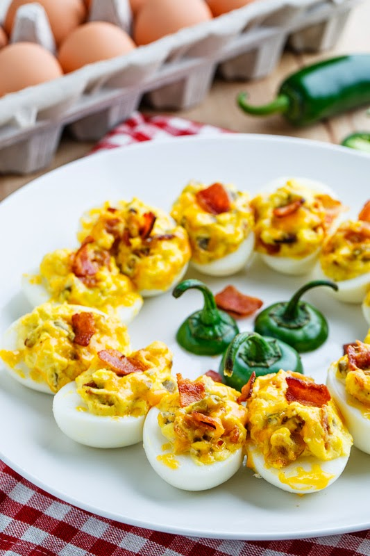 Jalapeno Popper Deviled Eggs