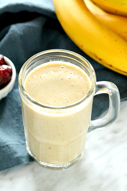 Banana Date Almond Protein Smoothie