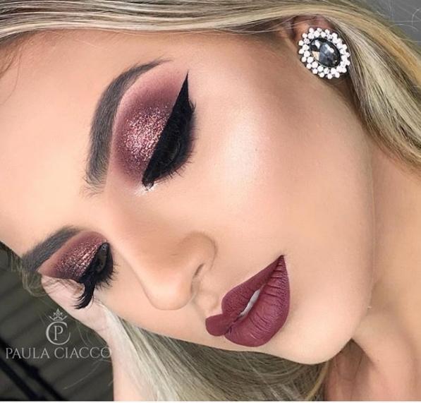 maquiagem de festa sombra glitter