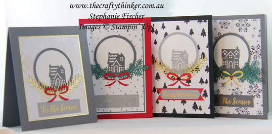 #cardmaking, #stampinup, Hometown Greetings, Christmas card, Xmas, #thecraftythinker, Stampin' Up Australia Demonstrator, Sydney NSW