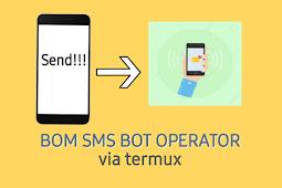 Bom SMS Bot Operator (Spam) Tanpa Pulsa Kesedot
