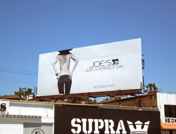 Joe's Jeans bare back billboard