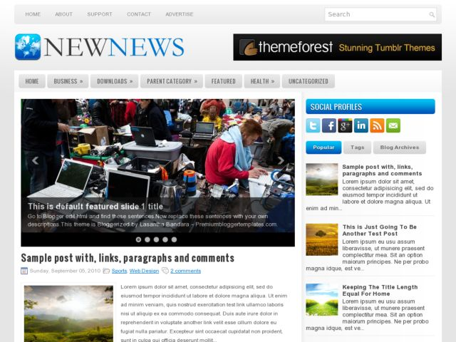 NewNews Blogger Template