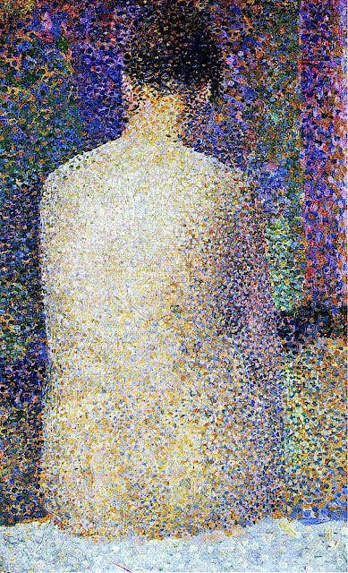 Georges Seurat painting seated nude
