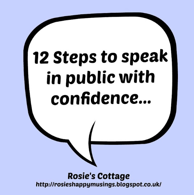 12 steps to help confident public speaking...