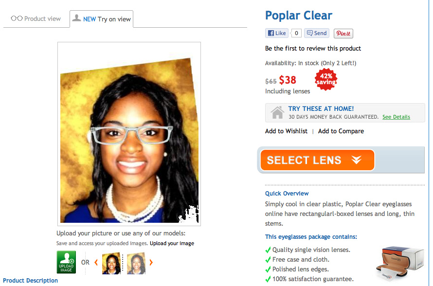 c16fbc50d61 Real College Student of Atlanta  Clear glasses  GlassesUSA.com