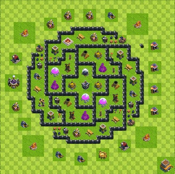 Base farming layout th8 by vttung9484 base farming layout th8 by