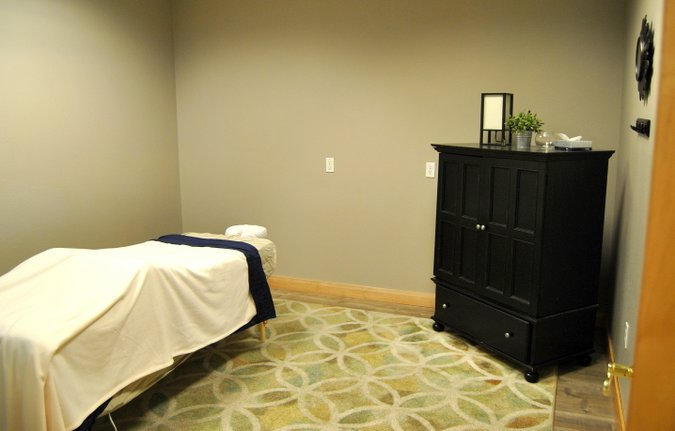 chiropractic office tour massage room