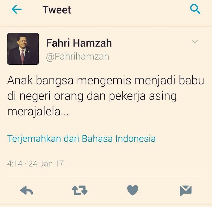 Pak Fahri Hamzah, PRT Bukan Pengemis di Negara Orang