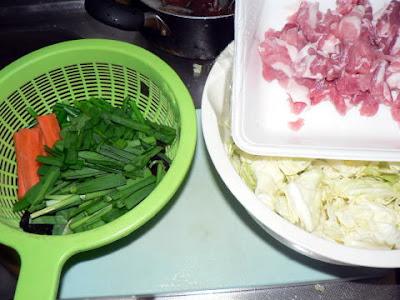 五目野菜炒めの材料