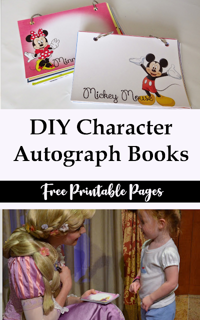 How to make a personalize DIY Disney autograph book for your Disney Vacation with free printables