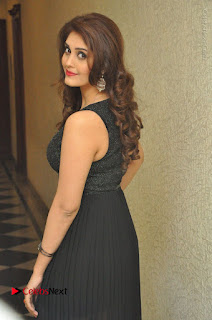 Actress Surabhi Stills in Black Long Dress at turodu Audio Launch  0055.JPG