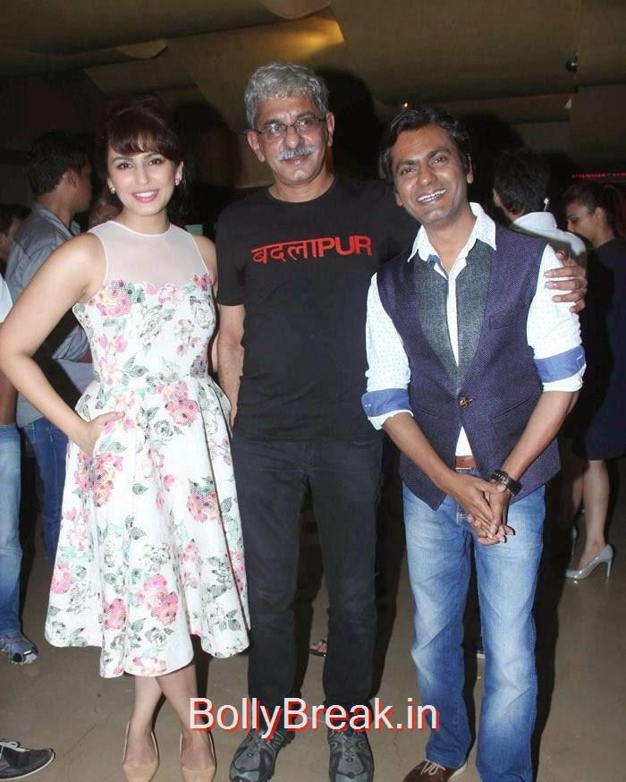 Huma Qureshi, Sriram Raghavan, Nawazuddin Siddique, Hot Images OF Manasvi Mamgai, Huma Qureshi, Sonakshi Sinha At  'Badlapur' Special Screening