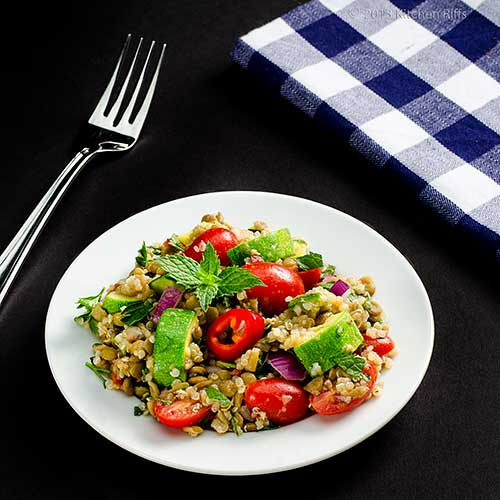 Lentil, Quinoa, and Zucchini Salad