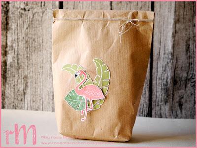 Stampin' Up! rosa Mädchen Kulmbach: Geschenktüte mit Flamingo aus Pop of Paradise