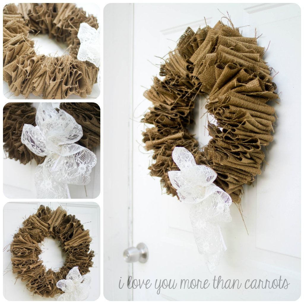 Diy Wreath Hanger I Love You More Than Carrots Project Pinterest Burlap