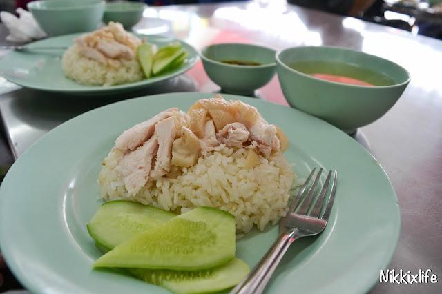 【泰國。曼谷】水門海南雞飯:老字號的平價雞肉。 1