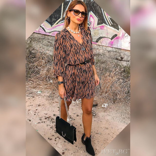 Εντυπωσιακό κοντό φόρεμα RENIRA