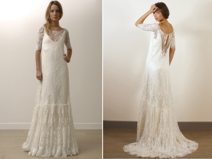 2017 Simple Wedding Dresses Lace 3 4 Sleeves Gowns Vintage: Vestido De Noiva Para Casamento Mais íntimo (mini Wedding