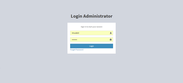 How to create admin login using php