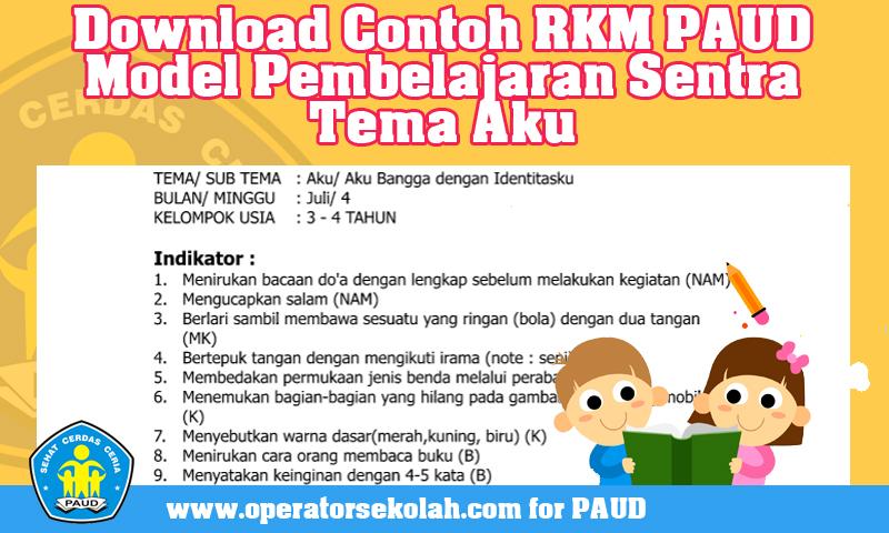 Download Contoh RKM PAUD Model Pembelajaran Sentra Tema/Sub Tema Aku/ Aku Bangga dengan Identitasku
