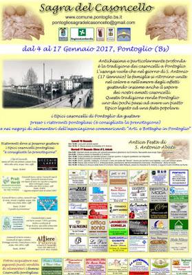 Sagra del Casoncello dal 4 al 17 Gennaio Pontoglio (BS) 2017