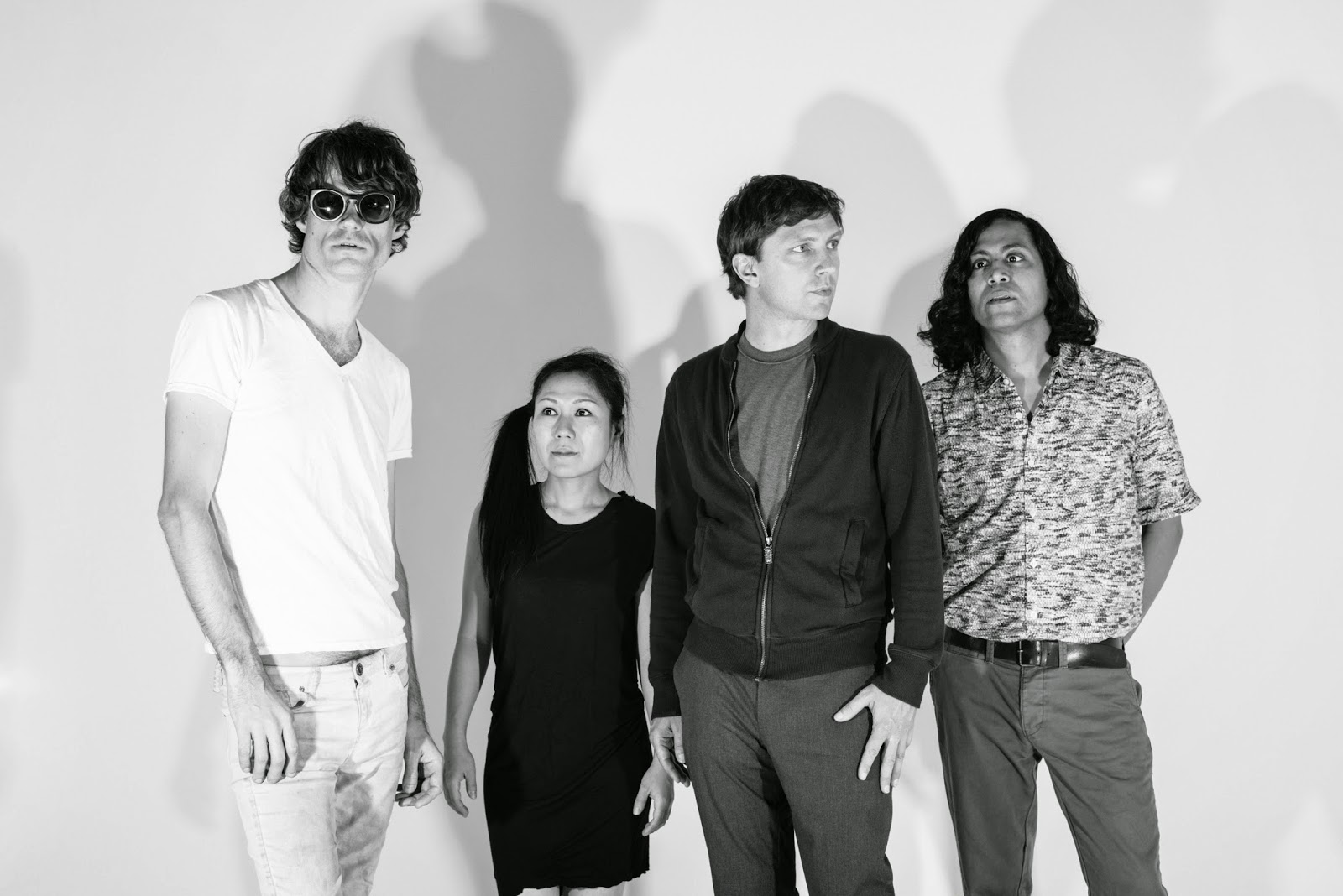 Deerhoof band member quartet all together