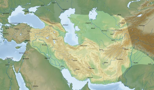 the extend of Timurid empire