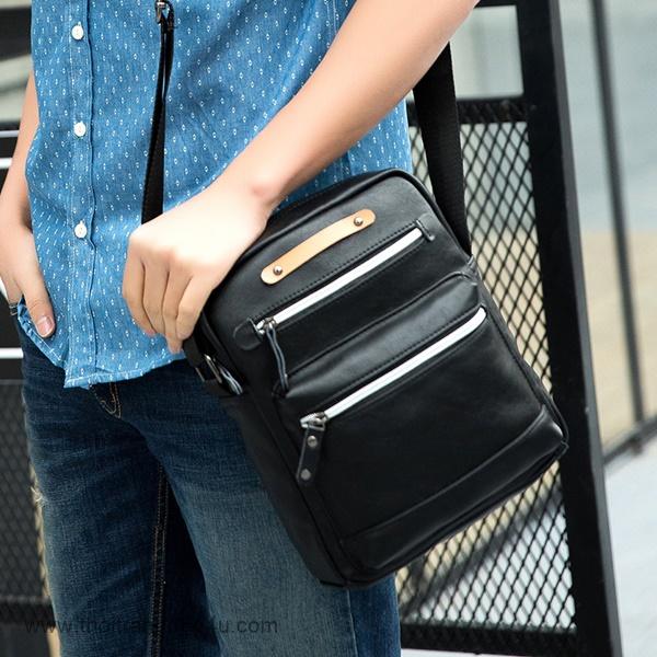 Túi nam đeo chéo da thanh lịch DF260