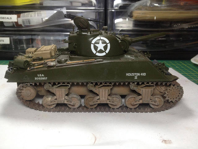Tamiya 1/35 scale model Sherman tank