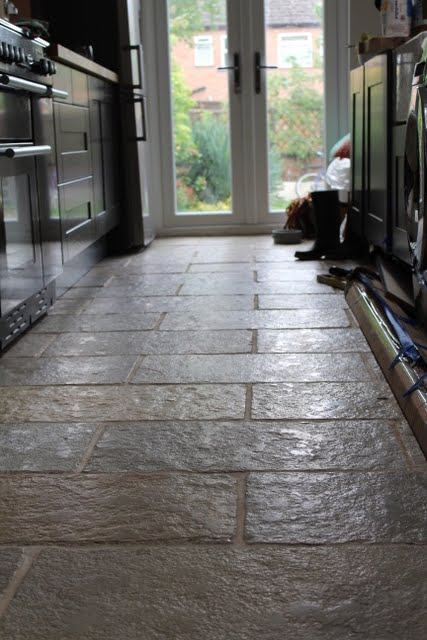 DIY Limestone Floor