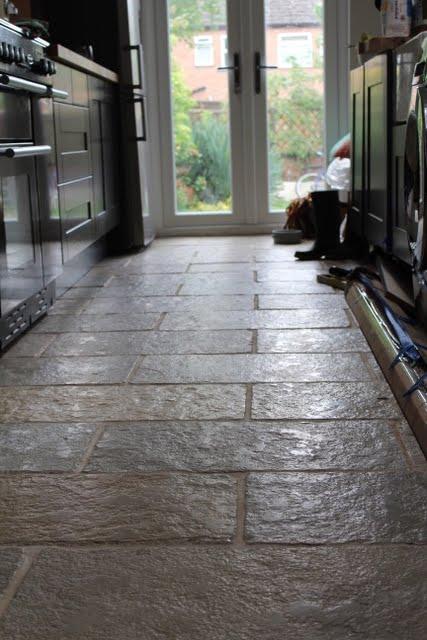 DIY Limestone Floor