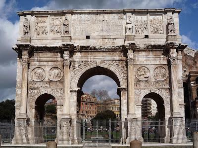arco constantino - 23 Monumentos do Fórum Romano