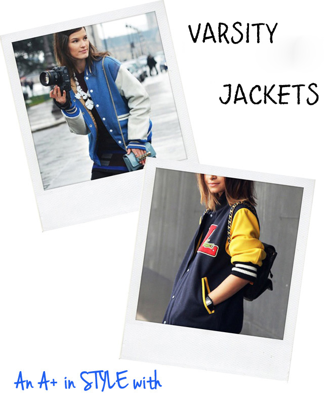 BACK TO HIGH SCHOOL DAYS.... WITH VARSITY JACKETS