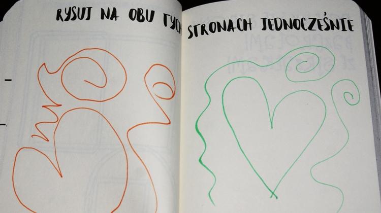 rysowanie dwiema rękami jednocześnie