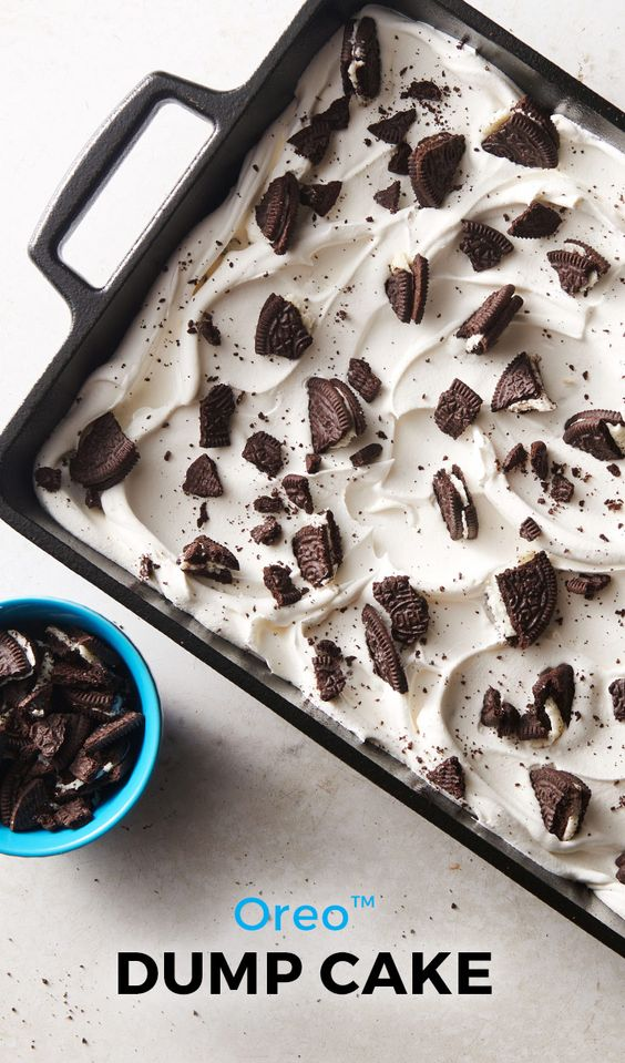 Calling all cookies and cream lovers! This easy Oreo™ dump cake is for you.
