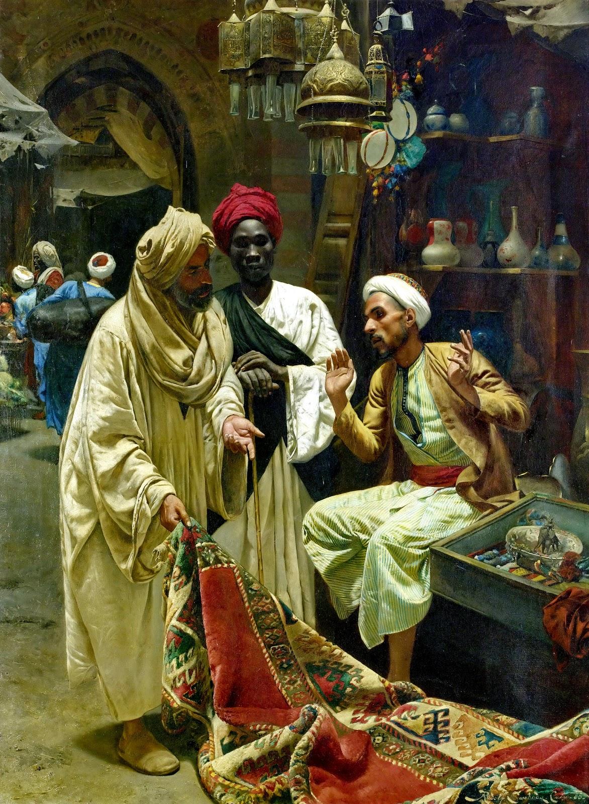لوحات زيتية نادرة مصر بعيون وريشه رسامين اجانب