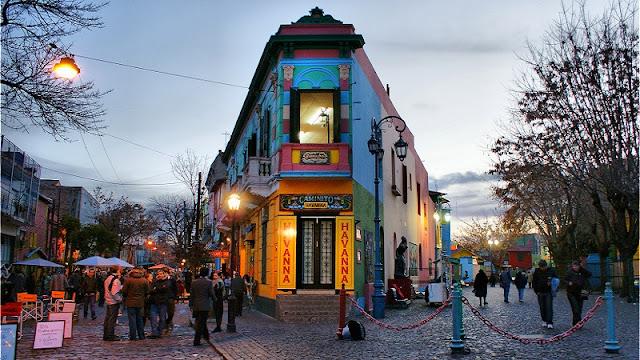 Passeio em Caminito em Buenos Aires